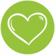 Web icons green Heart web